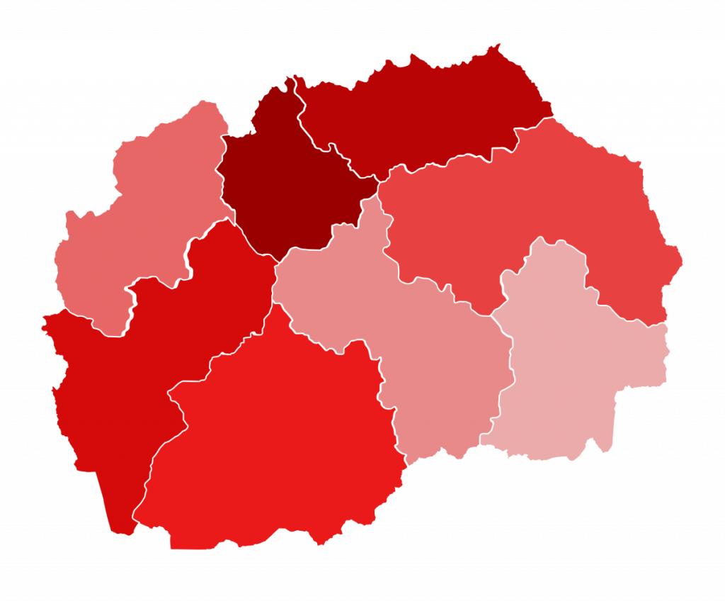 Скопје и Струмица водат по бројот на активни случаи со Ковид-19